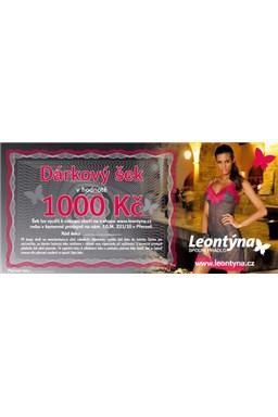 Dárkový šek Leontýna v nominální hodnotě 1000 kč