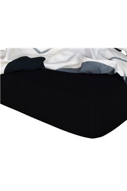 Jersey prostěradlo  černá C