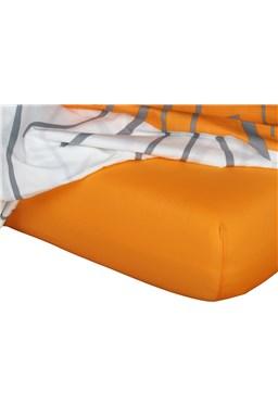 Jersey prostěradlo  pomeranč B