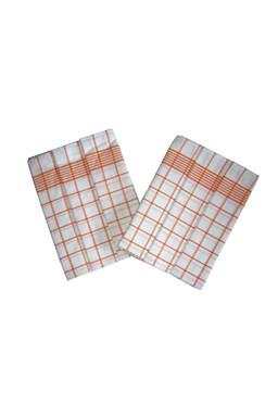 Utěrka Negativ Egyptská bavlna bílá/oranžová - 3 ks