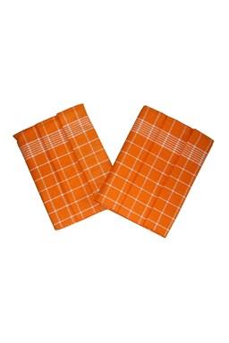 Utěrka Pozitiv Egyptská bavlna oranžová/bílá - 3 ks