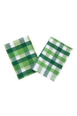 Vaflové utěrky Vaflo zeleno-bílá 2 ks