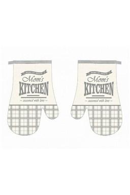 Kuchyňská chňapka 2 ks Mom´s kitchen šedá