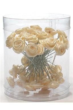 Vlasové ozdoby Vlásenky s růžičkou 50ks - béžové