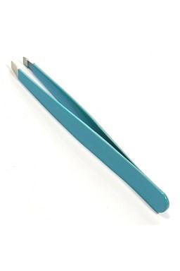 DUKO Pinzety Profesionální pinzeta šikmá - nerezová lakovaná 9,6cm modrá