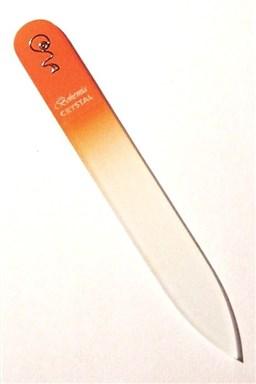 BOHEMIA CRYSTAL Skleněný pilník na nehty s potiskem - 90mm - oranžový