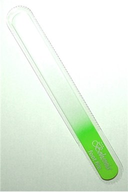 BOHEMIA CRYSTAL Velký skleněný pilník na nehty - 200mm - sv. zelený
