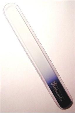 BOHEMIA CRYSTAL Velký skleněný pilník na nehty - 200mm - tmavě modrý