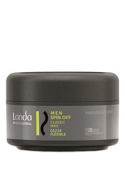 LONDA Professional Men Spin Off Classic Wax 75ml - klasický vosk na vlasy pro pružné zpevnění