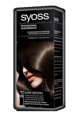 SYOSS Professional Permanentní barva na vlasy Dark Brown - tmavě hnědá 3-1