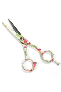 PRO FEEL JAPAN Green White FLowers profesionální kadeřnické nůžky na vlasy 5'