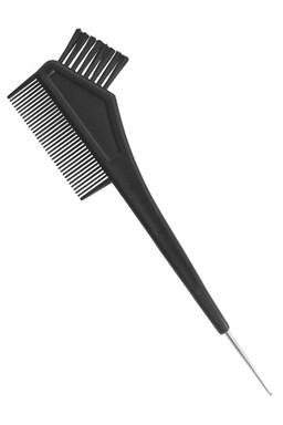 DUKO Pomůcky Kadeřnický štětec na barvení vlasů s hřebínkem a kovovým háčkem 21cm