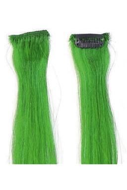 SIMPLY PERFECT Trendy 4ks - Vlasy na prodloužení Human Hair 47cm na sponě - Green
