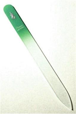 BOHEMIA CRYSTAL Skleněný pilník na nehty s potiskem - 140mm - zelený