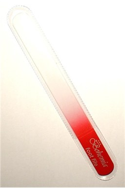 BOHEMIA CRYSTAL Velký skleněný pilník na nehty - 200mm - červený