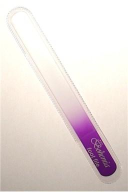 BOHEMIA CRYSTAL Velký skleněný pilník na nehty - 200mm - fialový