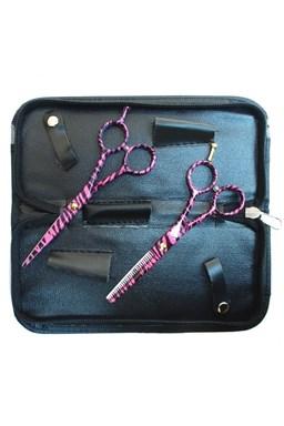 PRO FEEL JAPAN SET Pink Black - sada profesionálních 5,5´ kadeřnických nůžek