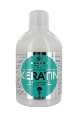KALLOS KJMN Keratin Shampoo 1000ml - regenerační keratinový šampon na suché vlasy