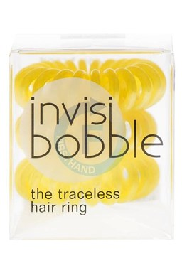 INVISIBOBBLE Traceless Hair Ring Yellow 3ks - Spirálová gumička do vlasů - žlutá