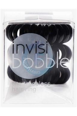 INVISIBOBBLE Traceless Hair Ring Black 3ks - Spirálová gumička do vlasů - černá