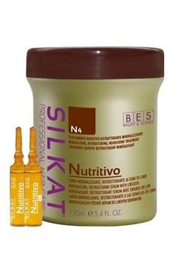BES Silkat Nutritivo Trettamento N4 - výživné sérum na poškozené vlasy 12x10ml