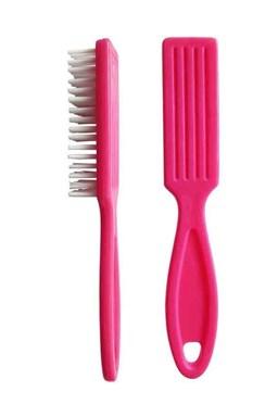 DUKO Kosmetika pomůcky Kartáček na ruce s rukojetí 23x150mm - růžový