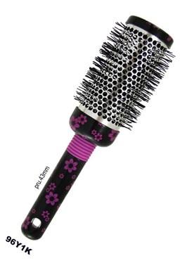DUKO Kartáče Kulatý kadeřnický vyhřívací kartáč na vlasy serie K vzor květ - 43mm