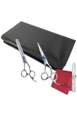 OLIVIA GARDEN Nůžky Sada nůžek Xtreme v pouzdře - nůžky XT-575 + efilačky XT-635