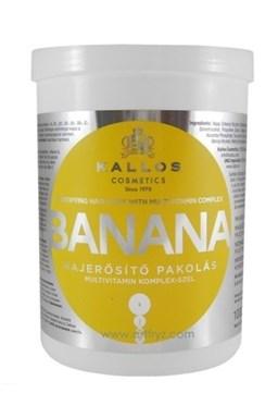 KALLOS KJMN Banana Hair Mask 1000ml - maska na suché vlasy s multivitamíny