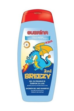 SUBRÍNA For Kids Breezy 2v1 250ml - dětský sprchový gel a šampon 2v1