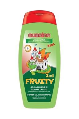 SUBRÍNA For Kids Fruity 2v1 250ml - dětský sprchový gel a šampon 2v1