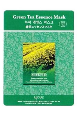 MJ CARE Green Tea Zelený čaj - antioxidační čistící pleťová maska proti vráskám
