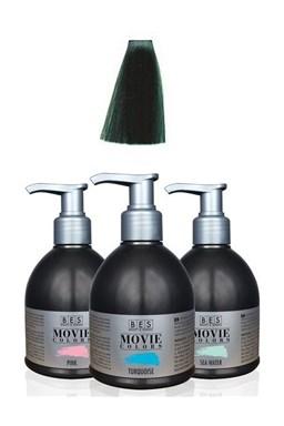 BES Movie Colors Green - gelová barva na vlasy bez amoniaku 250ml - zelená