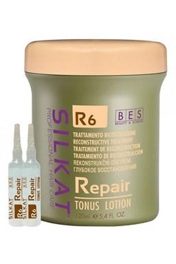 BES Silkat R6 Repair Tonus Lotion 12x10ml - keratinové tonikum pro velmi poškozené vlasy