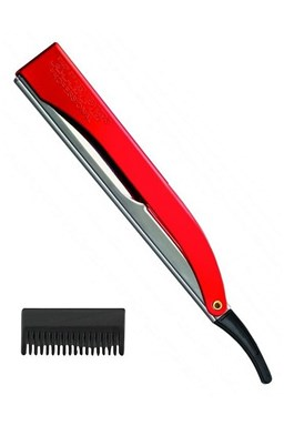 KIEPE Professional Pro Cut RED kadeřnická břitva s efilačním nástavcem - červená