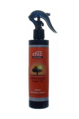 SALON CHIC Heat Defence Spray Argan Oil 200ml - ochrana vlasů před žehlením a fénováním