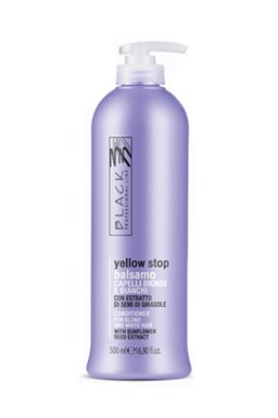 BLACK Yellow Stop Balsamo Antigiallo 500ml - balzám pro melírované a šedivé vlasy
