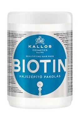 KALLOS KJMN Biotin Hair Mask 1000ml - maska pro tenké, slabé a lámavé vlasy