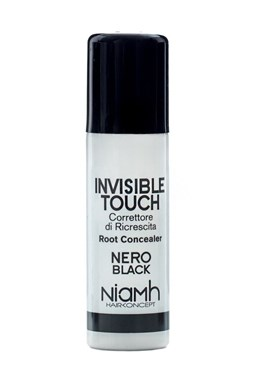 NIAMH HairKoncept BLACK Invisible Touch Root Concealer 75ml - korektor ve spreji - černý