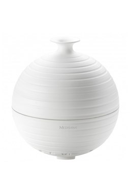 MEDISANA AD 620 Aroma difuzér na vonné oleje s časovačem a osvětlením - kulatý bílý