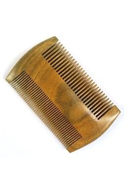 Beard Comb 00786 SandalWood - dvoustranný hřeben na vousy ze santalového dřeva
