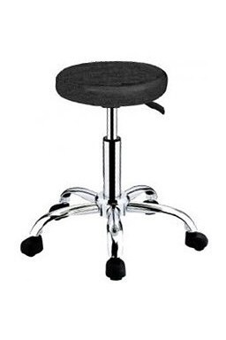 HAIRWAY Nábytek Kadeřnický taburet Comfort - kolečková židle - černá