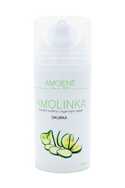 AMOLINKA Luxusní vazelína s Arganovým olejem 100ml - vůně okurka