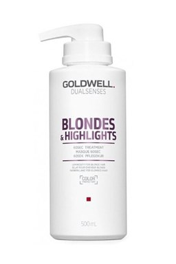 GOLDWELL Dualsenses Blondes And Highlights 60sec Treatment 500ml - maska pro bílou blond