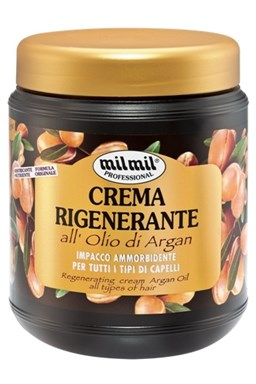 MIL MIL Argan Regenerační krém s arganovým olejem pro všechny typy vlasů 1000ml
