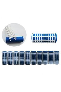 DUKO Natáčky 2410 Varné natáčky na vlasy 27x68mm modrobílé 10ks - velké