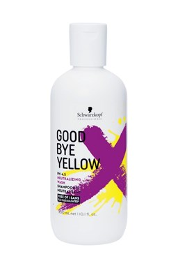 SCHWARZKOPF Good Bye Yellow Neutralizing Wash Shampoo 300ml - pro neutralizaci žlutých tónů