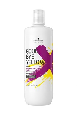 SCHWARZKOPF Good Bye Yellow Neutralizing Wash Shampoo 1000ml - pro neutralizaci žlutých tónů
