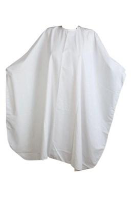FOX Collection Kadeřnický střihací plášť Silky Line se zapínáním na druky - bílý