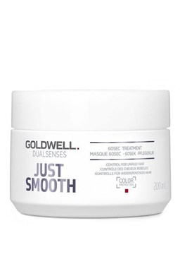 GOLDWELL Dualsenses Just Smooth 60sec Treatment 200ml - uhlazující maska pro krepaté vlasy
